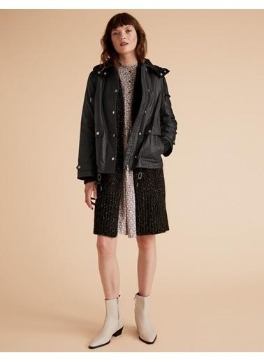 Marks & Spencer Çıkartılabilir Kapüşonlu Ceket Siyah